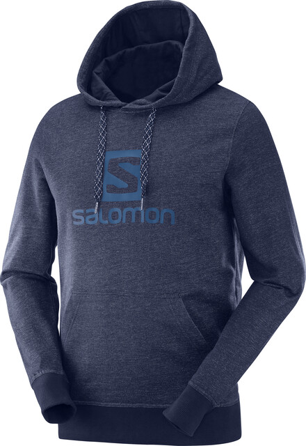 Salomon Logo Hoodie Men night sky